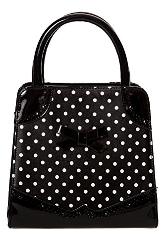 Black Off My Banned White Black Handbag Top 50's Hands Black Bag amp; White or Handle Red Polka Bwwxzn5