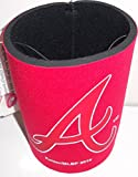 Atlanta Braves Red Neoprene Can Cooler Holder with Red and White Logo A