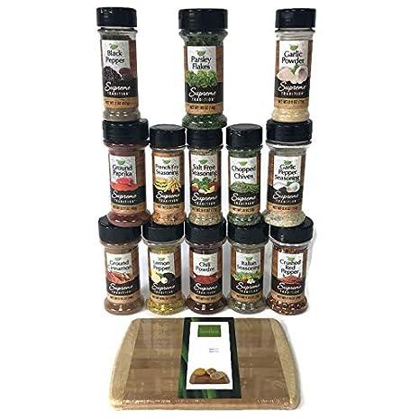 eSituro Juego de 3 Caja de Especias de Bamb/ú para Sal y Especias Caja De Condimento Madera con Tapa SBSS0022
