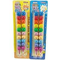Relia Stack Smiley Pencil and Crayons for Kids Birthday Return Gift ( Pack of 2)