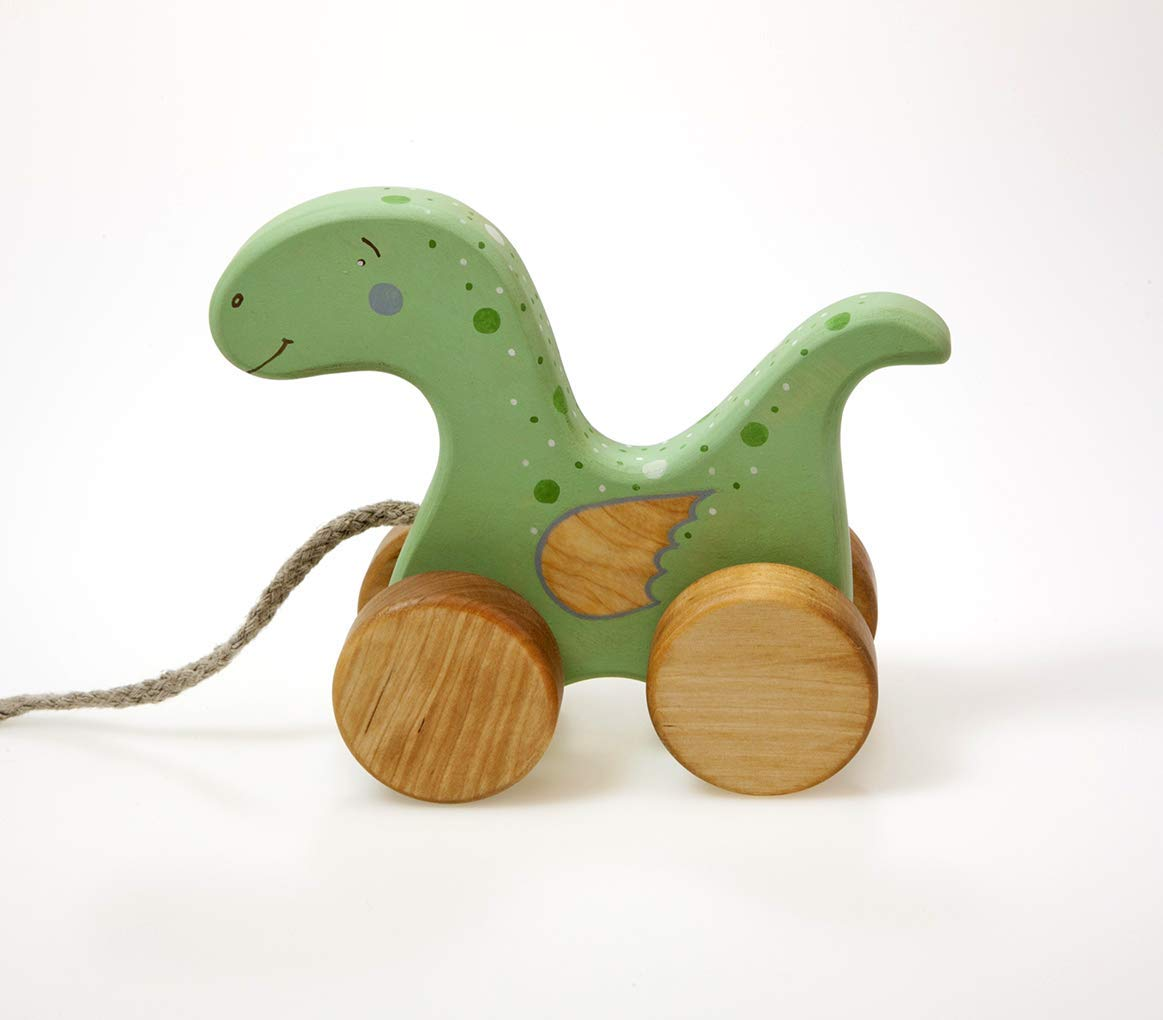 Personalized Dinosaur Toy, Wooden Toy for Toddler Girl & Boy
