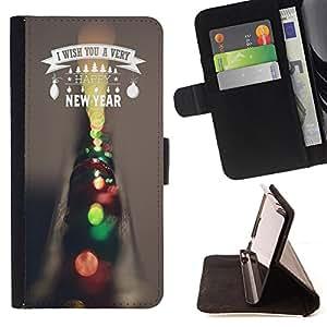 Dragon Case - FOR Samsung ALPHA G850 - i wish you a very - Caja de la carpeta del caso en folio de cuero del tir¨®n de la cubierta protectora Shell
