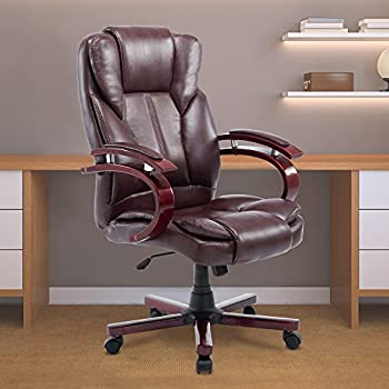 Acepro Office Chair Executive PU Leather High Back Ergonomic Computer Desk  Chair Swivel Adjustable Chair,
