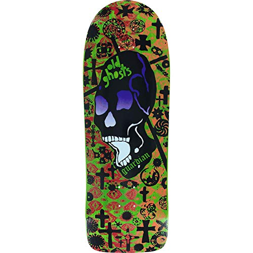 (Vision Old Ghost Mc Deck10x30.25 Lime/Red/Orange - (Bundled with Free 1'' Hardware Set) )