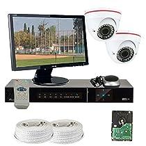 GW Security VD2CHH14 4 CH HD-SDI DVR 2 x HD-SDI 1/3-Inch CMOS Camera 720P Video Output 2.8 to 12 mm Lens, 36-IR LED, 82-Feet IR Distance
