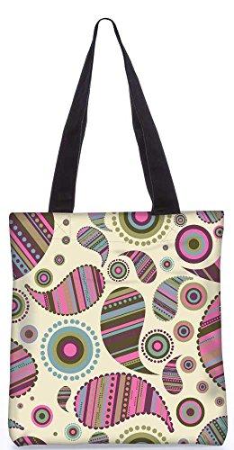 """Snoogg Creme Abstraktes Muster-Einkaufstasche 13,5 X 15 In """"Shopping-Dienstprogramm Tragetasche Aus Polyester Canvas"""