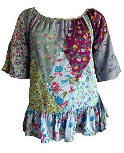 - Sacred Threads Round Neck Nothing Match Short Sleeve Patch Top/Shirt Medium