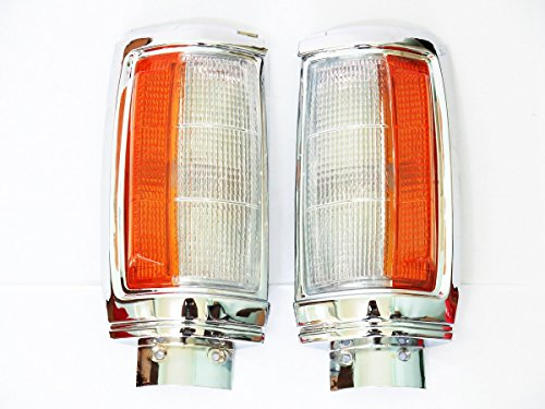 2x Chrome Corner Clear-orange Lights Side Maker Turn Signal Mitsubishi 1987-1996 Mighty Max Pickup