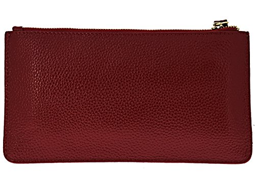 Women Leather for Wine Phone Purses Card Slots Black with Clutch FDTCYDS Red Wallets z8Tqwzd