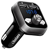 FM Transmitter, OBSTARO Bluetooth Fm Transmitter for car, Wireless in-car Bluetooth Receiver MP3 Player Stereo Radio Adapter car kit with Dual USB Car Charger,Hands Free for Iphone, Ipad,Smartphones