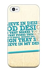 Special Design Back Believe In Design Phone Case Cover For Iphone 4/4s