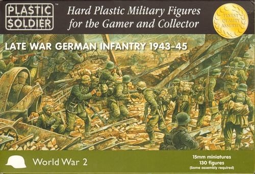 15mm WWII - German: Late War German Infantry (130) ()