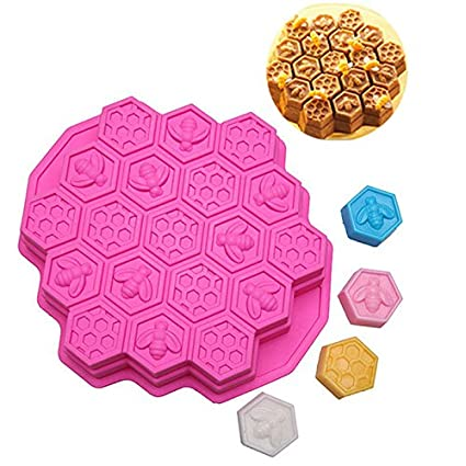 Baking & Pastry Tools 1 Pcs Diy 19 Holes Pudding Jelly Bake Pan Bees Cake Mold Honeycomb Shape Chocolate 3d Mould Home & Garden