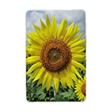 Josid Blanket Soft Warm Lightweight 60x90 Inches Flower Sunflower Karnataka India Vibrant Personalized Stylish for Bed Couch Sofa Travelling Camping Kids Boys Women