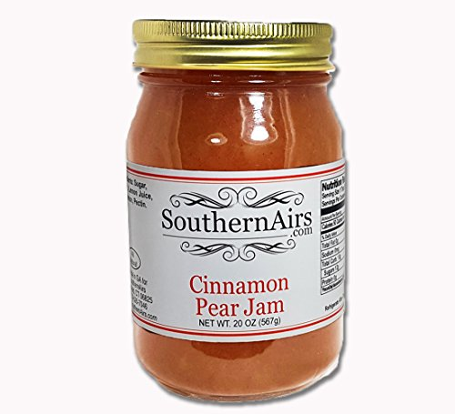SouthernAirs Cinnamon Pear Jam/unique rich specialty Jam/Delicate blend of fruit and spice / 1-20 oz. - Preserves Homemade