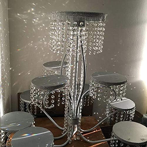 h/ängende Kristalle f/ür die Dekoration Ersatzkristall f/ür Kronleuchter H/&D 3FT Champagner-Kristall-Perlenkette Kronleuchter-Perlen