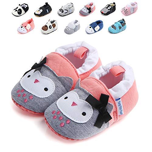 Infant Baby Boys Girls Adjustable Anti-Slip Slippers Soft Sole Moccasins Winter Socks Frist Pram Shoes -