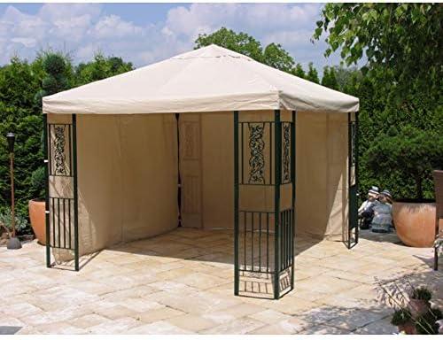 Grasekamp Hierba Kamp Carpa Roma 3 x 3 m Beige 7073-a CarPort pérgolas Pergola: Amazon.es: Juguetes y juegos