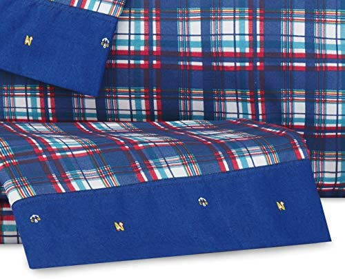 Chambray Ground w//Flag All Over, Twin XL Nautica Tossed Nautical Flags Cotton-Rich Kids Sheet Set