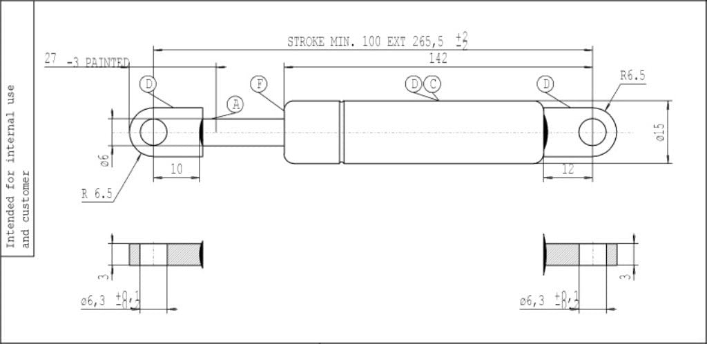 Original Stabilus Lift-O-Mat/® Gasfeder 082503 150 N