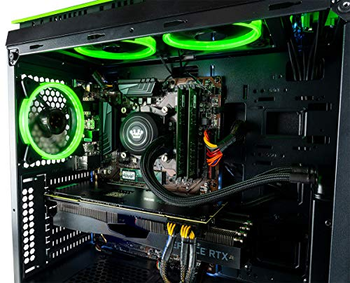 CUK Mantis Custom Gaming PC (Liquid Cooled Intel i7-9700K, 32GB DDR4-2666 RAM, 500GB NVMe SSD + 2TB HDD, NVIDIA GeForce RTX 2080 Super, 700W, Windows 10) The Best New Tower Desktop Computer for Gamers