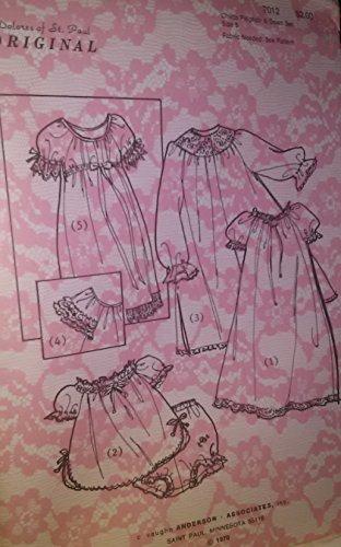 Dolores of St Paul 7012, Size 6 Child's Peignoir and Gown Set, Vintage Sewing Pattern (Peignoir Vintage)