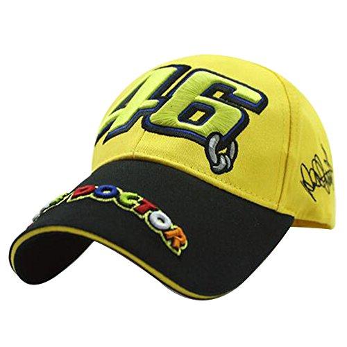 YOUWANG Moto GP VR46 Racing Cap Embroidery Men Women Baseball Caps Motorcycle Race Sun Hats