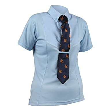 Shires - Camisa de manga corta con corbata de mujer para ...