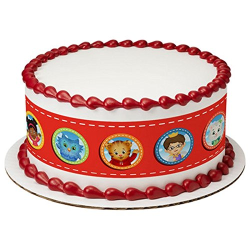 (Whimsical Practicality Licensed Daniel Tiger's Neighborhood - Designer Strips - Edible Cake Side Toppers -)