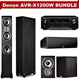 Denon AVR-X1200W 7.2 Channel Full 4K Ultra HD A/V Receiver (Bluetooth/Wi-Fi/Apple AirPlay/Dolby Atmos) NOW WITH (2) Polk Audio TSi400 Floorstanding Speakers, (2) TSi100 Bookshelf Speakers & (1) CS10 Center Channel