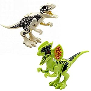 NEWBEGIN Dinosaurs Models Blocks,Jurassic Mini Dinosaur Models Dinosaur Minifigures Movable Jurassic Toys 8pcs DIY Assembled