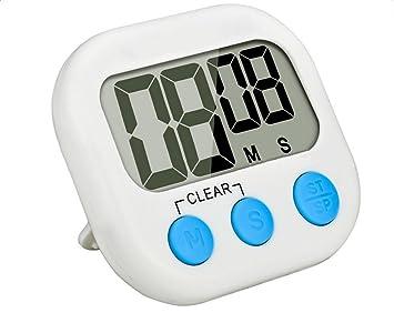 Cosanter Digital Temporizador de Cocina cocinar Temporizador Reloj de Cocina cuentaminutos con Gran Pantalla LCD