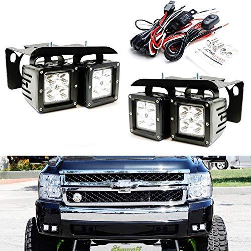 iJDMTOY LED Pod Light Fog Lamp Kit For 2007-14 Chevy Silvera