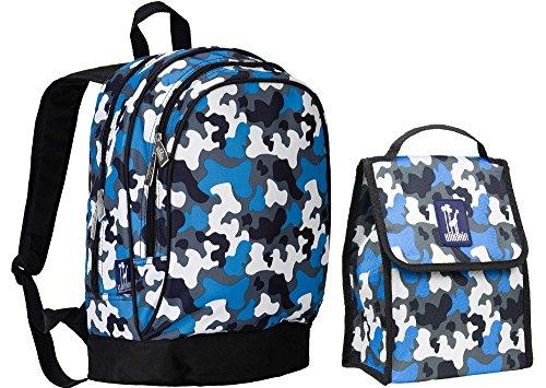 wildkin-sidekick-backpack-and-lunch-bag-bundle-set-camo-blue