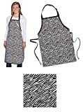 Bulk Lot Pet Grooming Salon Aprons Black Zebra Print Vinyl Water Stain Resistant