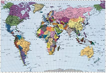 Brewster 4 050 world map 4 panel mural with paste 8 foot 10 inch by brewster 4 050 world map 4 panel mural with paste 8 foot 10 gumiabroncs Choice Image