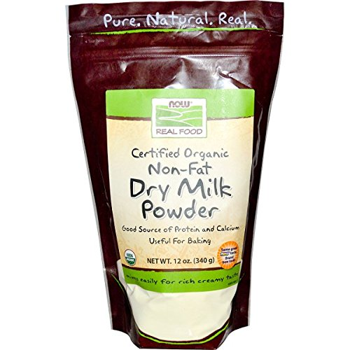 NOW Foods Organic Non-Fat Dry Milk Powder, 12-Ounce (Nonfat Dry Milk)