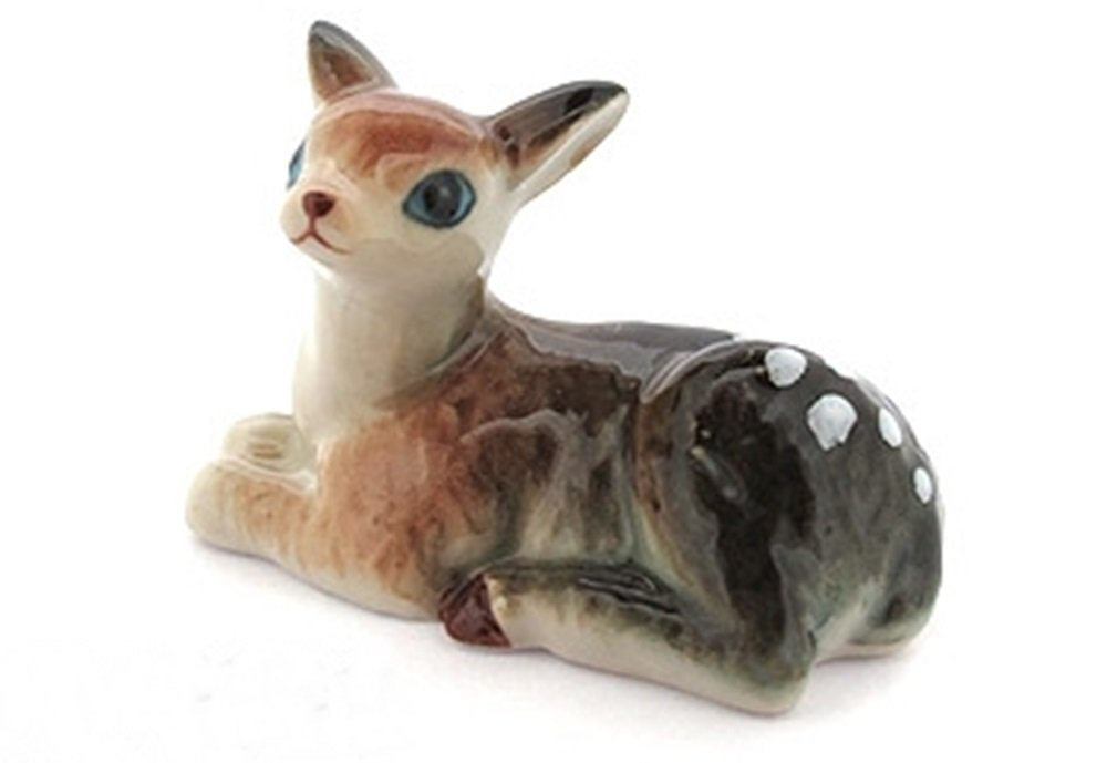 Dollhouse Miniatures Ceramic Deer 1 FIGURINE Animals Decor