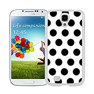 New Style View Window Design Smart Cover For Samsung Galaxy S4 i9500 Polka Dot White and Black Watercolor Samsung Galaxy S4 i9500 Case White Cover
