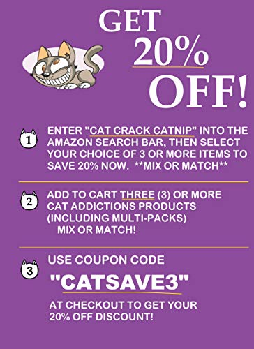 Catnip by Garry's Pets - 3 Single Cups of Maximum Potency Premium Blend Cat Nip That Your Cats Will Go Crazy Over