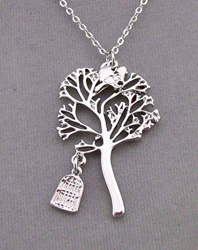 Silver Free Bird Tree Pendant Necklace For Women Fashion Jewelry NEW