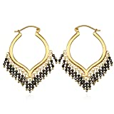 Satya Jewelry Pyrite Gold Plate Chandelier Hoop Earrings