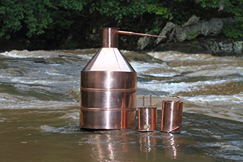 20 Gallon Copper Moonshine Still with Worm & Thumper by North Georgia Still Company