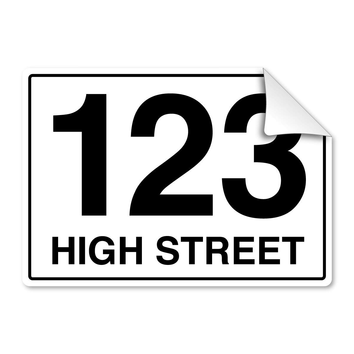 Pack of 4 personalised printed bin number stickers with road street name for waste containers a4 white self adhesive vinyl amazon co uk kitchen home