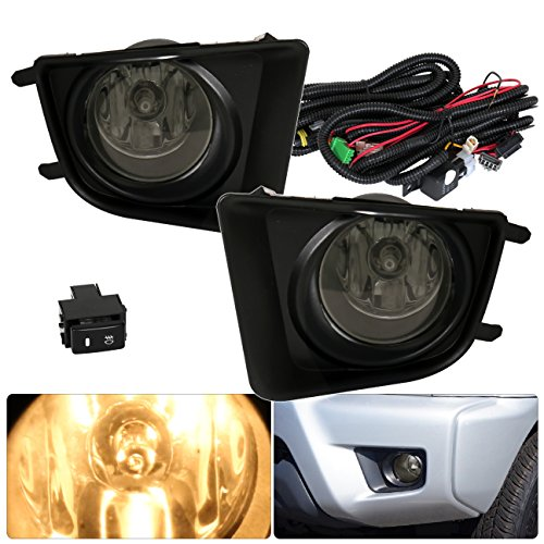 AJP Distributors For Toyota Tacoma Fog Lights Lamps Front Driving Bumper Bezel Replacement Upgrade 2012 2013 2014 2015 12 13 14 15 (Smoke)
