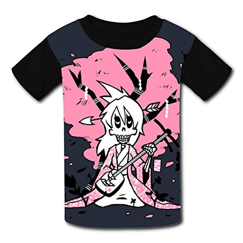 Skeleton Play Music Fashion V-Neck Running Sneakers Canvas T-Shirts for Boys or -