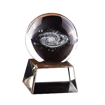 80 mm galaxia bola de cristal esfera de cristal con sistema ...
