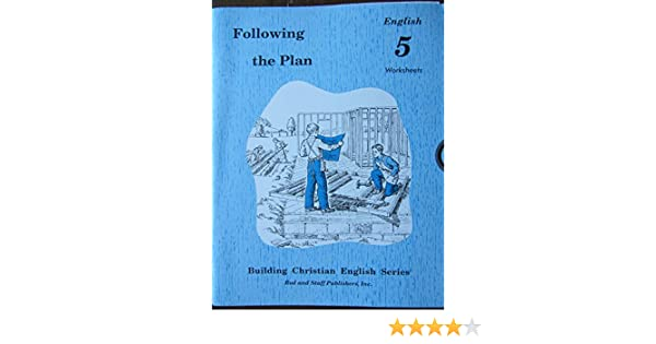 Following the Plan, English 5 Worksheets (Building Christian ...