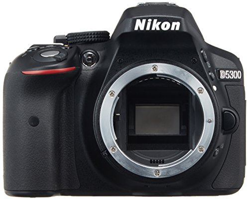 Nikon D5300 24.2 MP CMOS Digital SLR Camera with Built-in Wi-Fi and GPS Body Only (Black) – International Version (No Warranty)