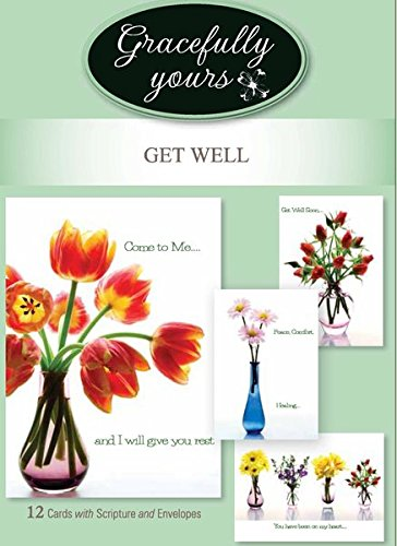 Amazon gracefully yours get well greeting cards featuring gracefully yours get well greeting cards featuring christine zalewski 12 4 designs3 m4hsunfo